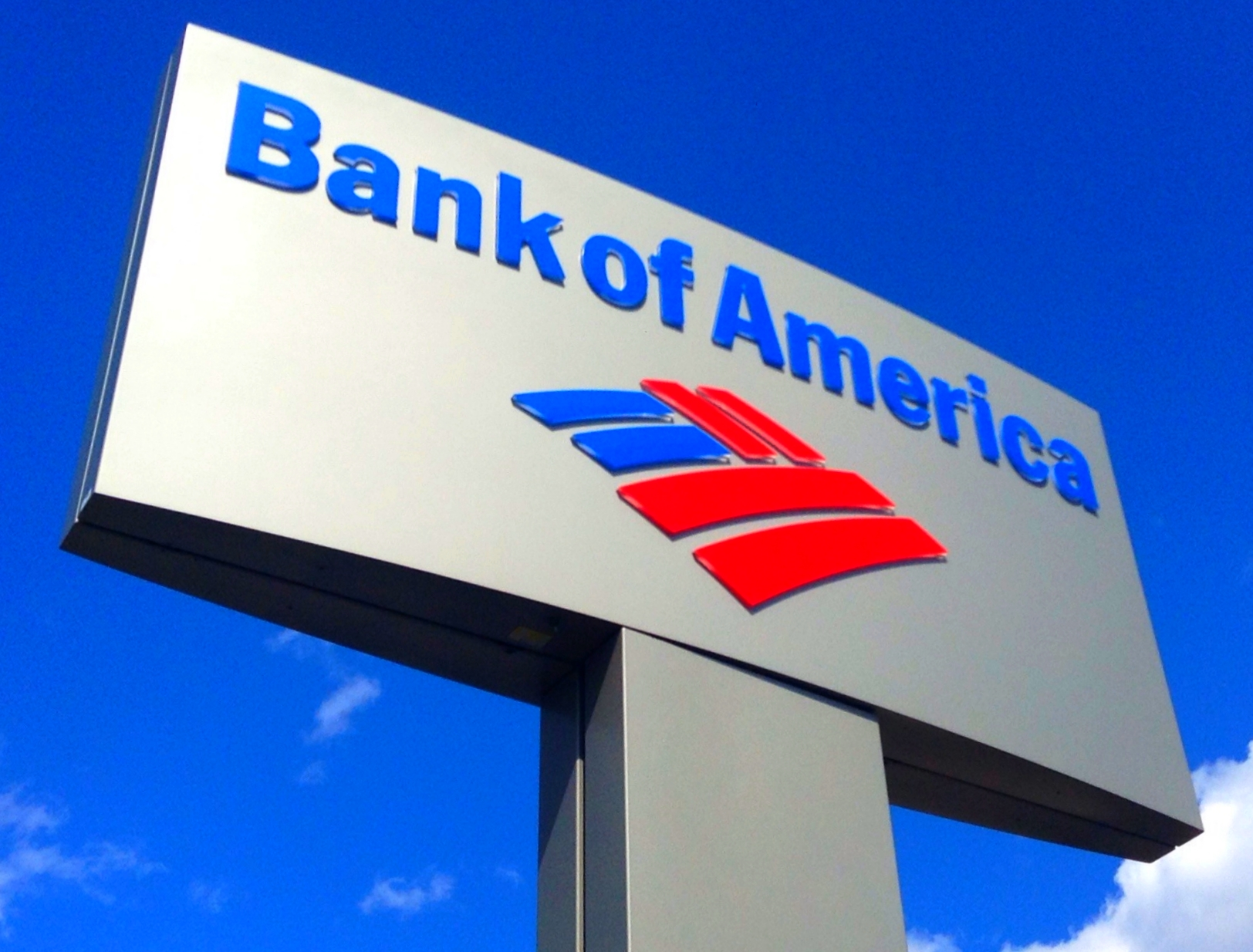 Bank of America sign with logo